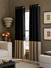 American-Elm Set Of 2 Both Sided Black-LightBrown Color Room Darkening Blackout Twins Curtains(4.5 X 5) - By