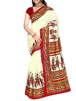 Cream colored bhagalpuri saree -  online shopping for Sarees