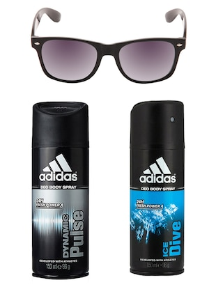 Adidas Deodorant Combo with  Black Wayfarer -  online shopping for Men Deodorants