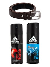Adidas Deodorant Combo with Brown Belt -  online shopping for Men Deodorants