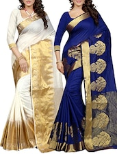 multi colored cotton blend combos saree -  online shopping for Sarees