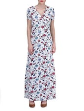 Multicolored Polycrepe Printed Maxi Dress - By