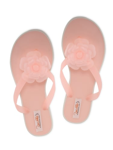 2c1aef3514f2 Buy Pink Flower Embellished Flip Flops for Women from Zachho for ...