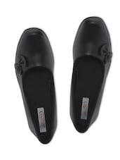 Black Imported Foam Leather Slip-on Shoes - By