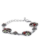Multicolored Metallic Studded Bracelet - By