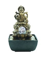 Lord Ganesha With Crystal Ball Led Water Fountain - By