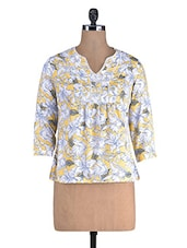 Multicolored Poly Crepe Floral Print Top - By