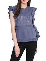grey cotton top -  online shopping for Tops