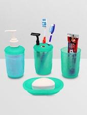 Green Set Of 4 Polypropylene Bath Works Set - By