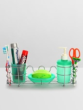 Green Stainless Steel Stainless Steel Bathroom Organizer - By