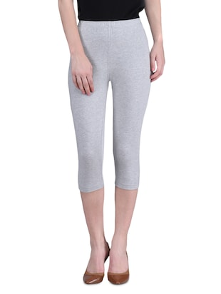 "Grey Cotton Lycra Knee Length 26"" -  online shopping for gymnasium"