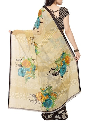 dc96f7bbd140a Buy Cream Half And Half Saree With Blouse for Women from Rajnandini for ₹534  at 33% off
