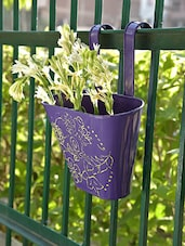 Purple Basket Hanging Planters (Set Of 2) - By