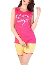 pink cotton shorts set -  online shopping for nightwear sets