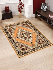 Presto Bazaar Brown Color Traditional Carpet -  online shopping for Carpets