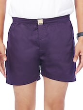 purple cotton boxer -  online shopping for Boxers