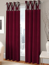 Modern Fab Set Of 2 Polyester Multicolour Door Curtains - By