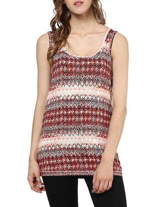 multicolored printed cotton regular top