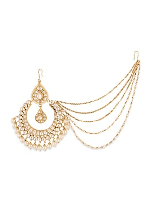 gold  plated maang teeka