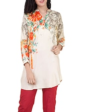 cream silk straight kurti -  online shopping for kurtis