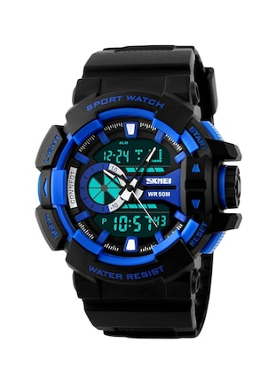 SKMEI Outdoor Sports OLA-SK1117B Dual Time Display Waterproof Digital Watch Blue -  online shopping for Analog Watches