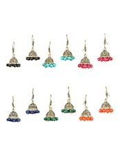 multi gold plated drop earring -  online shopping for Earrings