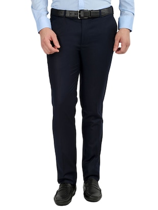 set of 2 polyester flat front trousers formal trouser - 12823772 - Standard Image - 2