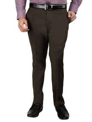 set of 2 polyester flat front trousers formal trouser - 12823772 - Standard Image - 5