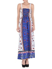 Multicolored Poly Crepe Printed Long Dress - By - 1282471