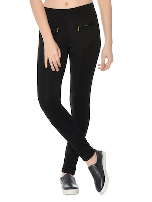 black polyester jeggings - 12833732 - Standard Image - 2