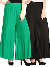 set of 2 multicolored viscose palazzos -  online shopping for Palazzos