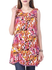 multicolored printed rayon tunic -  online shopping for Tunics