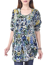 multicolored printed cotton tunic -  online shopping for Tunics