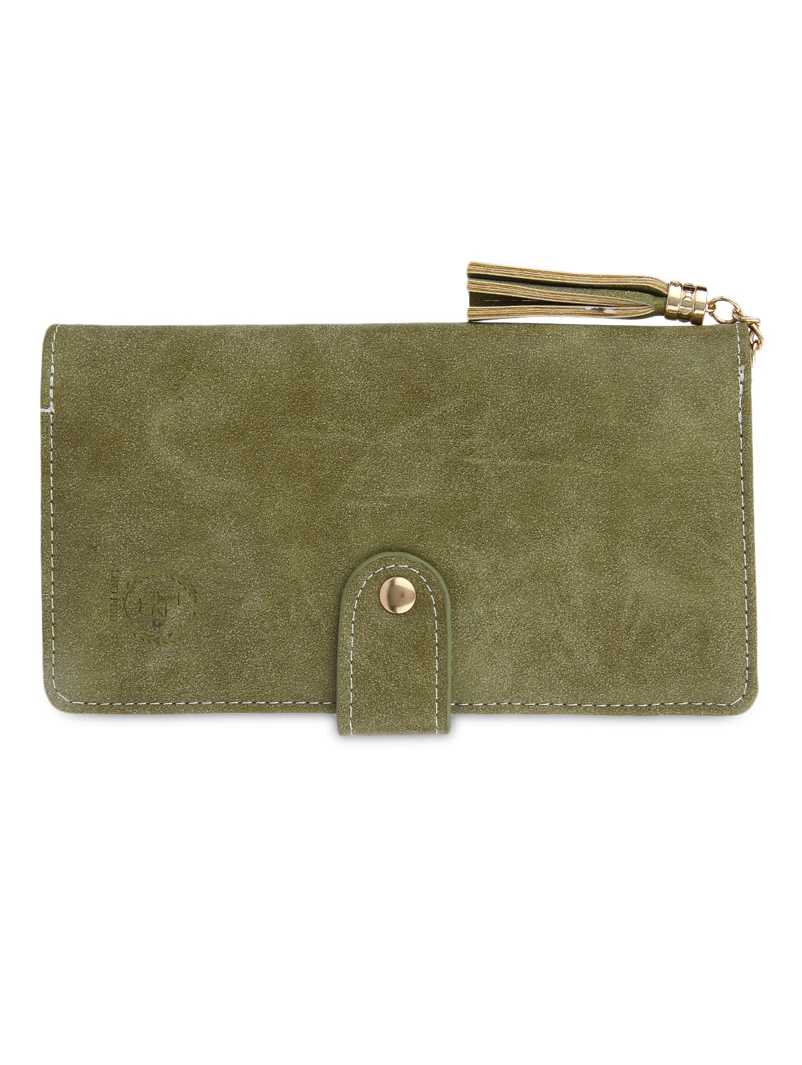 Green Leatherette Sling Bag - By