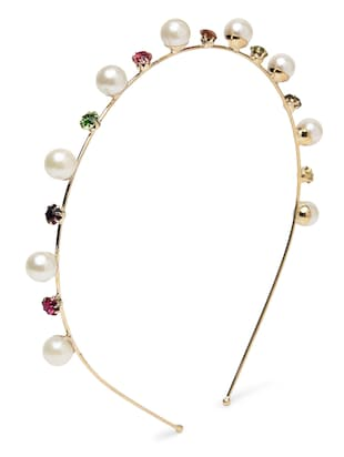 Multicoloured Faux Pearl Studded Hairband