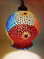 Susajjit Decorative Colorful Hand Work Design Glass Chandelier Ceiling Lamp - By