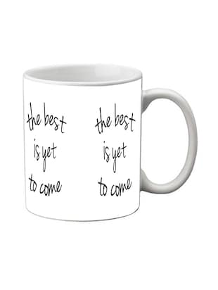 meSleep The Best Is Yet To Come White Digital Printed Mug