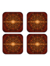 meSleep Brown Wooden Coaster - Set of 4 -  online shopping for Coasters & Trivets