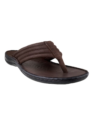 02daeb537e74 Buy Brown Pu Slippers by Mochi - Online shopping for Slippers in India