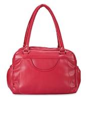 Solid Maroon Leatherette Handbag - By