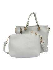 grey leatherette handbag -  online shopping for handbags