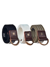Pack Of 3 Multi Colored Canvas Belt - By - 12890425