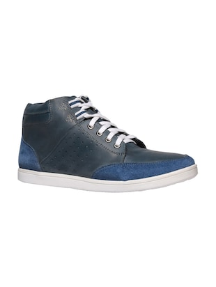 blue leatherette lace up sneaker -  online shopping for Sneakers