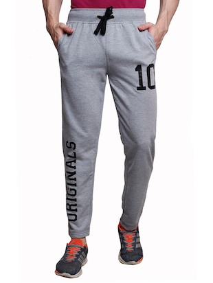 grey cotton  full length track pant