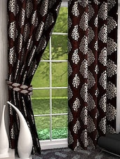 Shubh Collection Of Arabian Print Polyester Door Curtain - Set Of 2 - By