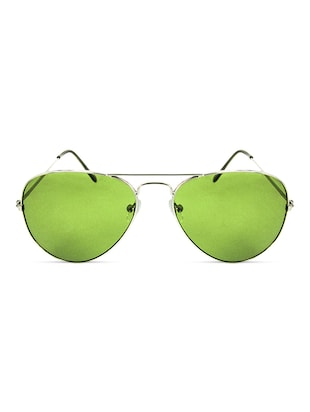 Parrot green UV protected aviators