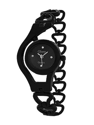 black round dail stainless steel analog watch -  online shopping for Analog watches