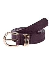 Brown Leatherette (pu Belt - By - 12910165