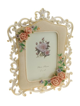 Golden Peacock colourful Floral Shaped Resin Photo Frame -  online shopping for Photo frames