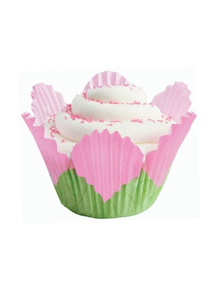 Wilton Pink Petal Baking Cups, 24 Count